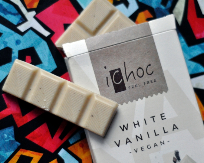 ichoc White Vanilla Vegan Chocolate