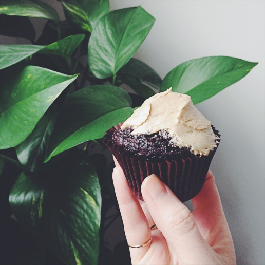 Half-Licked Vegan Mocha Cupcake