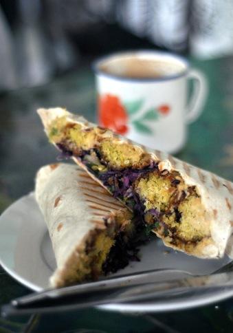 Vegan Falafel Wrap at The Forest Cafe